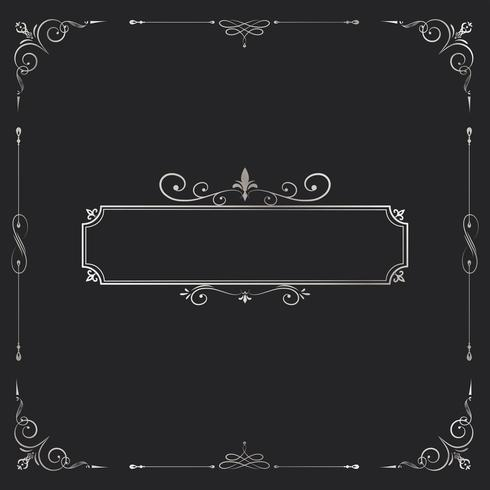 Tappning virvlar runt blank emblem