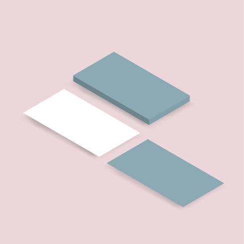 Imagem vetorial de pilha de cartão de nome