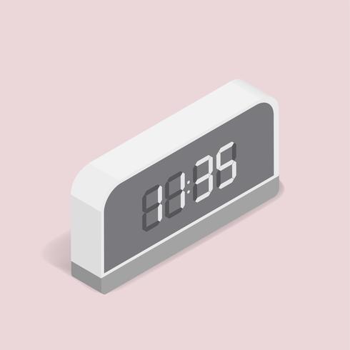 Vector image of digital alarm clock icon