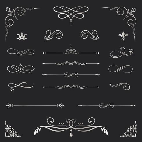 Elementos de design ornamentais vintage