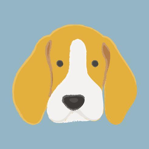 Beagle hond vector