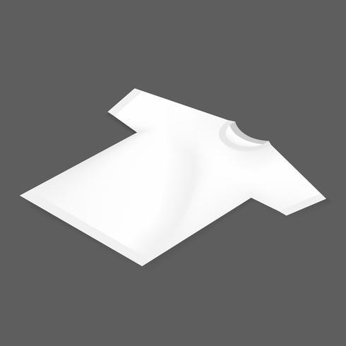Ícone de vetor de maquete de tee branco em branco