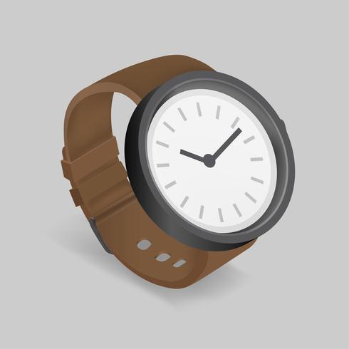 Vetorial, ícone, de, relógio mão