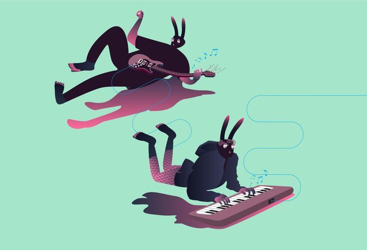Illustration de musiciens surréalistes