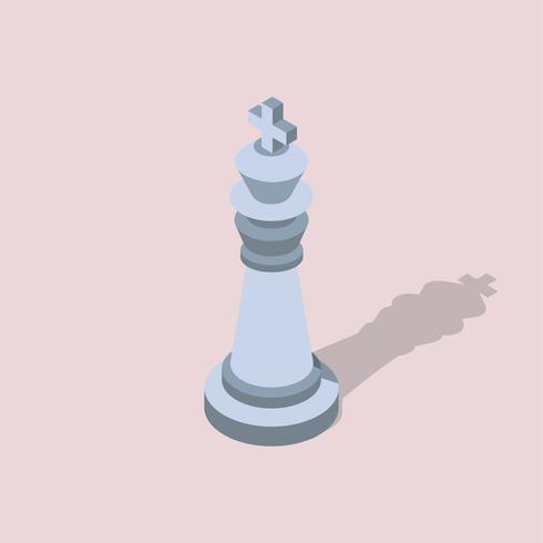 Vetorial, ícone, de, xadrez