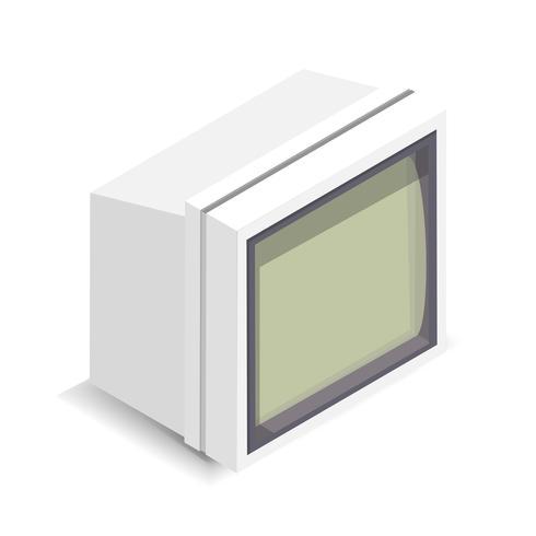 Vektor illustration av datorskärm