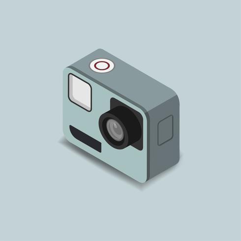 Vector icon of vintage camera icon