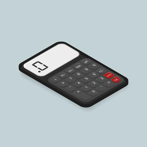Vector image of calculator icon