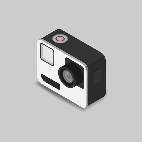 Icono de vector de icono de cámara vintage