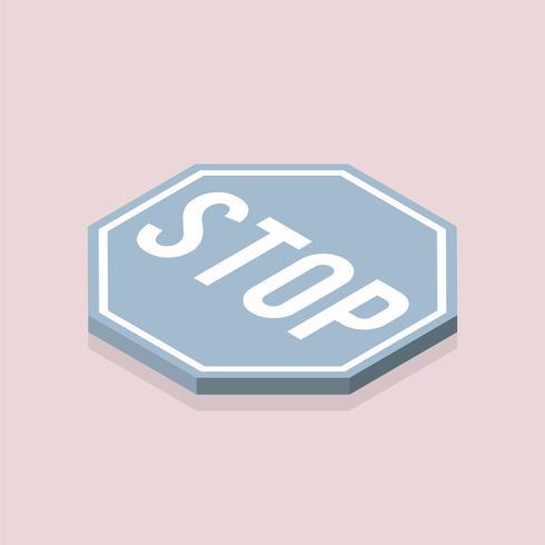 Vetor de ícone de sinal de stop