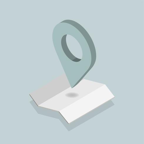 Vector van GPS-navigatiepictogram