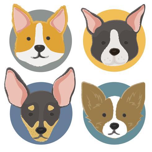Ilustración de la colección de perros.
