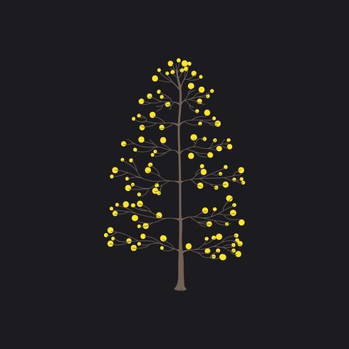 Boom met gele ronde bladeren vector