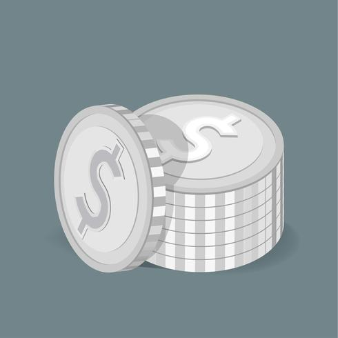 Vector of coins stack icon