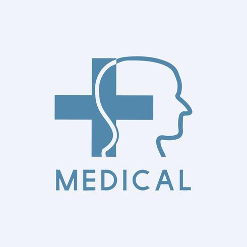 Vettore blu sanitario di malattia mentale