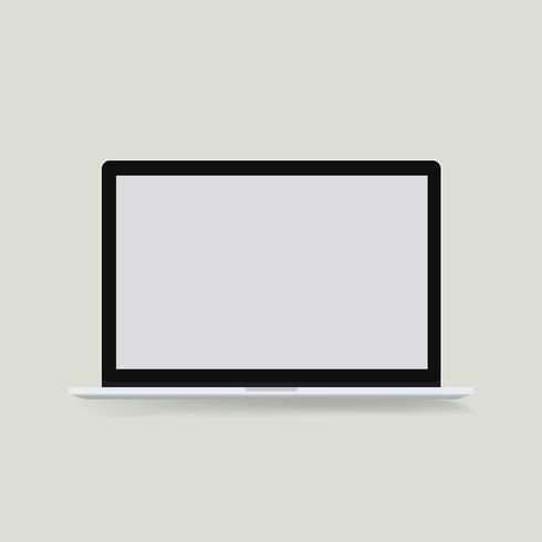 Ícone de vetor de ícone de computador portátil