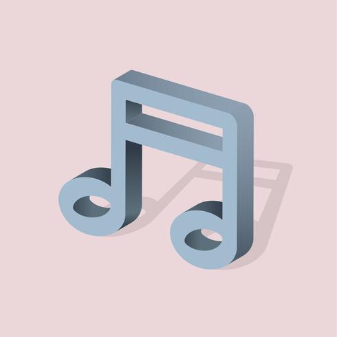 Vektor ikon för musikanteckning