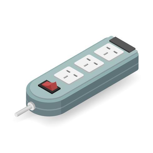 Vektorikone des elektrischen Steckers