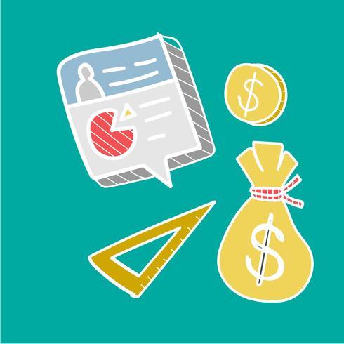 Doodle verzameling van financieringsplan