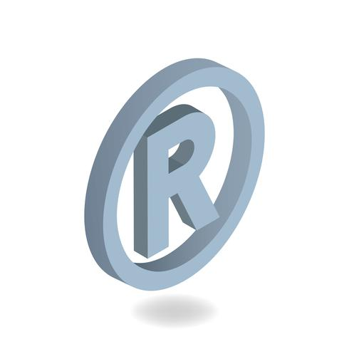 Vector image of trademark icon