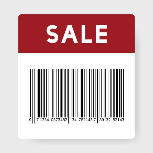 Ilustração de código de barras de venda