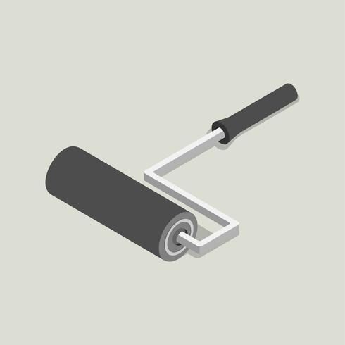 Vector pictogram van rolborstel