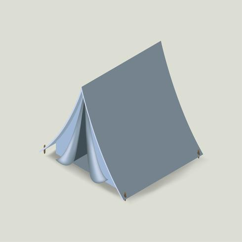 Vector icon of camping tent icon