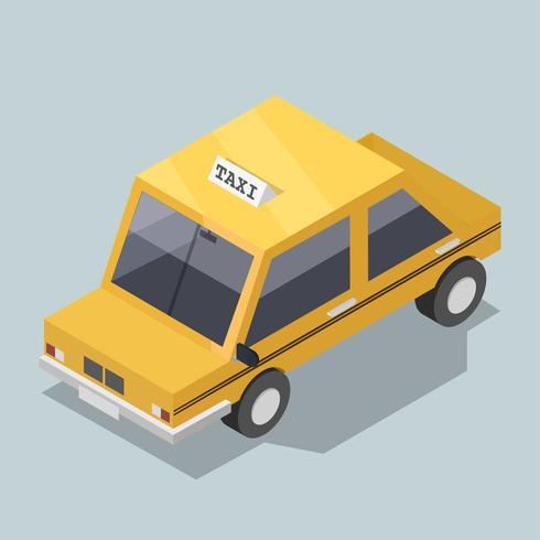 Vektor av 3D gul taxi ikon