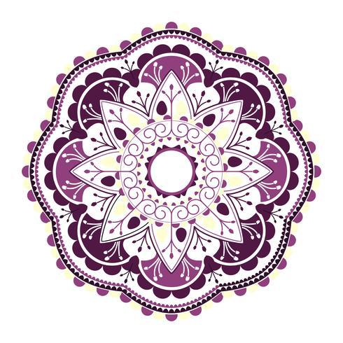Mandala hindu roxa