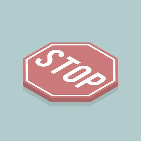 Vektor av stoppskyltikonen