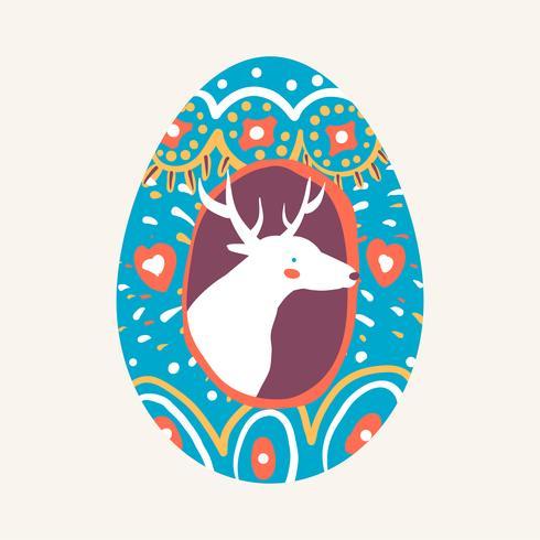 Påskägg design illustration