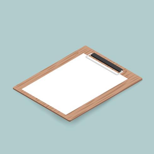 Vector of mockup notepad icon