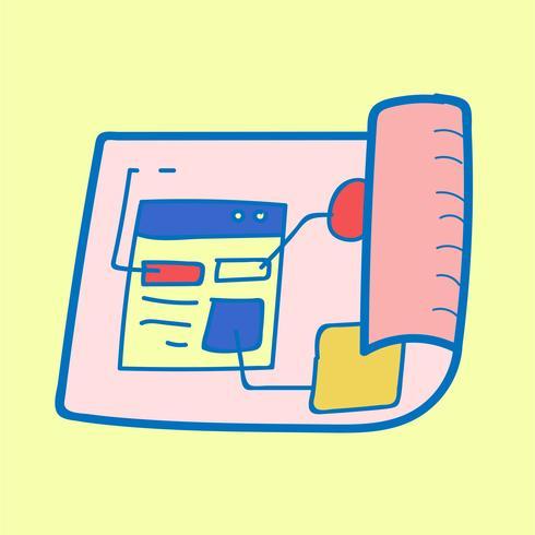 Doodle de layout de modelo de site