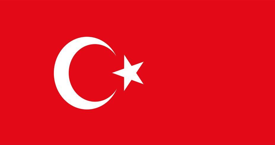Illustration of Turkey flag