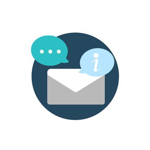 Ilustração, de, envelope, ícone