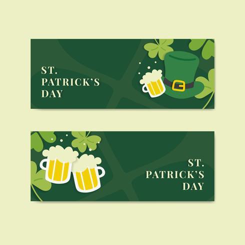 grön helgon patricks dag banner