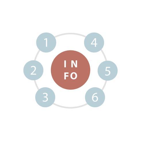 Vector de elemento de tabla de información numerada