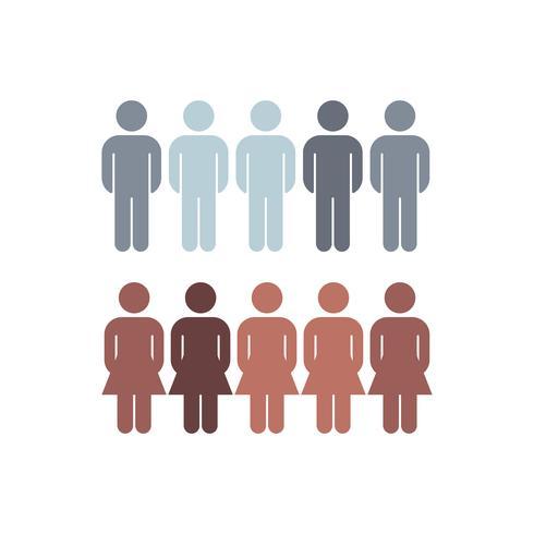 Vettore di statistiche di distribuzione di genere aziendale