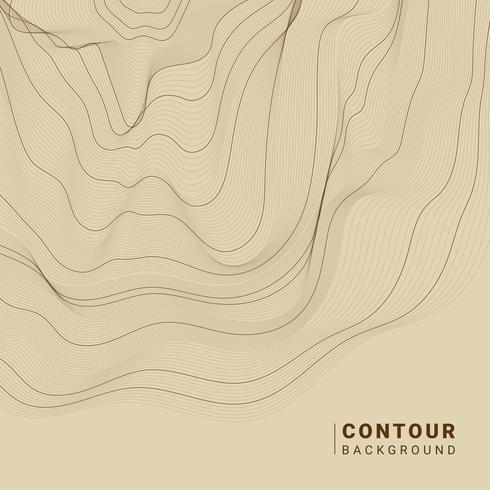 Illustration de lignes de contour abstraites marron