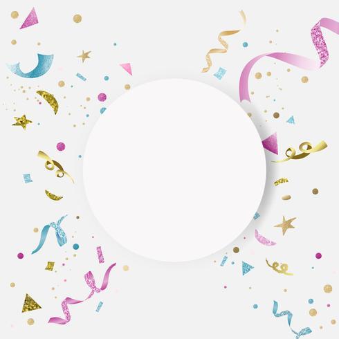 Kleurrijk confettien feestontwerp