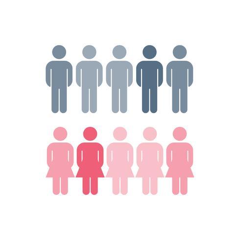 Zakelijke genderverdeling statistieken vector