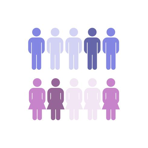 Corporate gender distribution statistics vector
