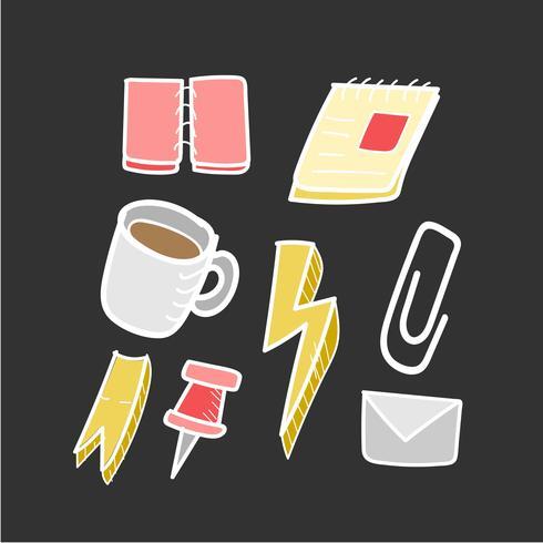 Illustratie van vectorpictograminzameling