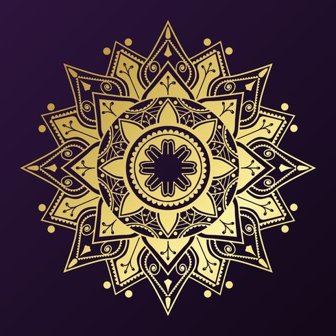 Distintivo de mandala dourada