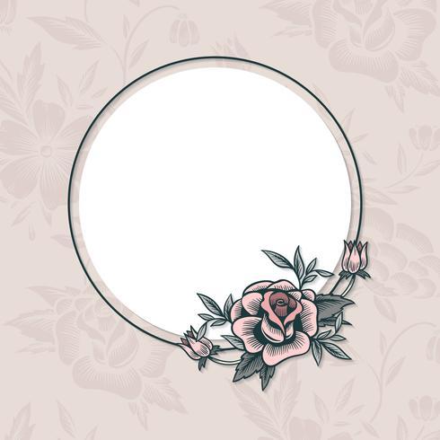 Cadre vintage floral
