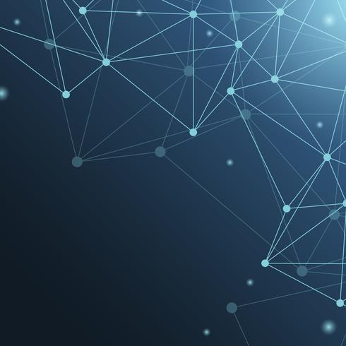 Blue neural network illustration