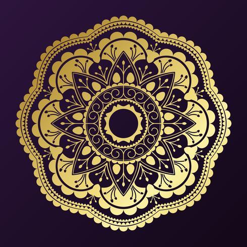 Golden mandala badge