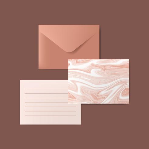 Marmor brev illustration set