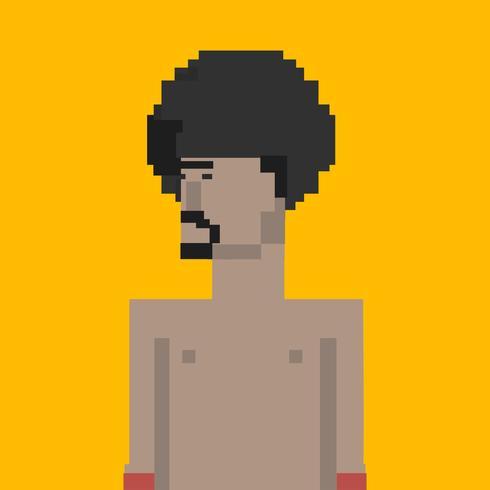 Abbildung des Avataramannes mit Afrofrisur