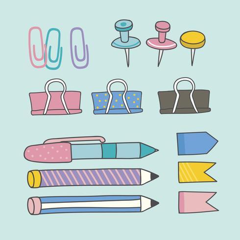 Bunte Schreibwaren liefert Sammlung